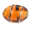Glass Wired Lamp Bead 12x8mm Topaz